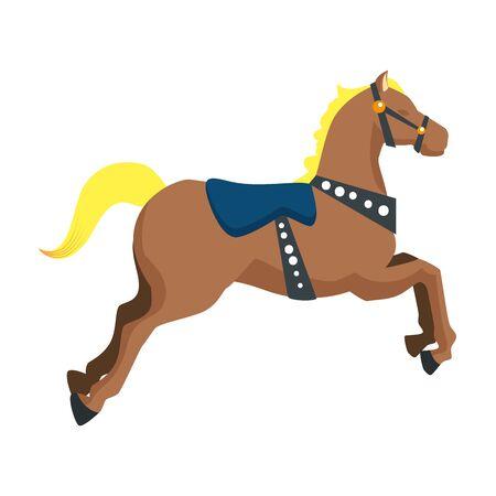 carousel horse carnival icon vector illustration design