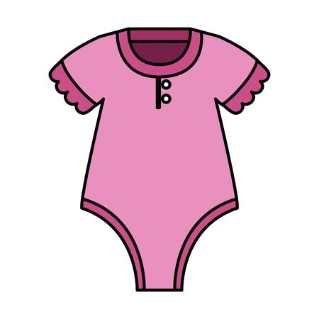 cute baby girl clothes icon vector illustration design Illustration