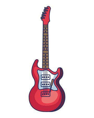 chitarra elettrica strumento icona musicale illustrazione vettoriale design