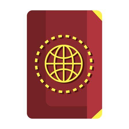 Document d'identité de passeport conception d'illustration vectorielle icône isolé Vecteurs
