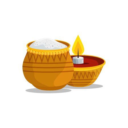 ramadan kareem candle and food vector illustration design Illustration