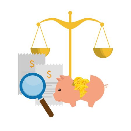 scale balance equality icon vector illustration design Stock Vector - 128482192
