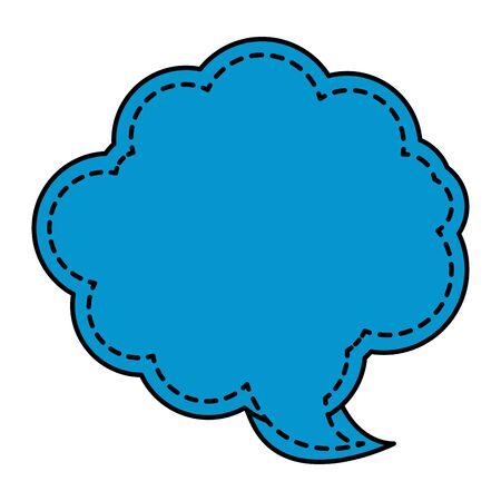 cute speech bubble message icon vector illustration design 向量圖像