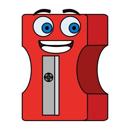 sharpener education supply character vector illustration design