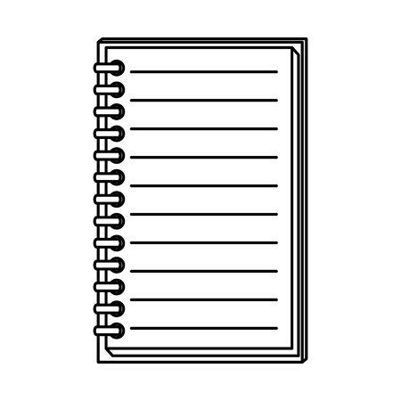 note book school supply icon vector illustration design