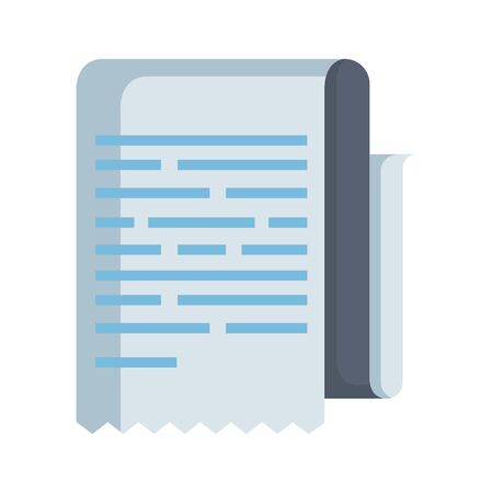 paper document isolated icon vector illustration design Ilustrace