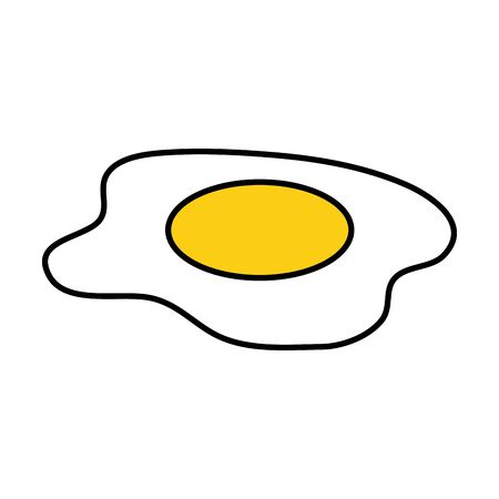 delicious eggs fried food vector illustration design  イラスト・ベクター素材