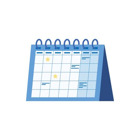calendar reminder date isolated icon vector illustration design Stock Vector - 128745130