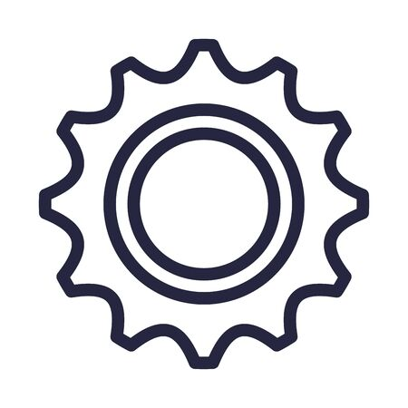 gears machinery isolated icon vector illustration design Standard-Bild - 128780339