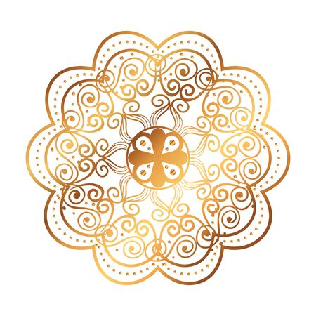 golden mandala victorian style vector illustartion design
