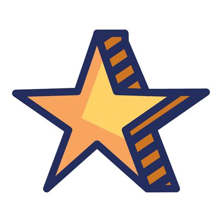 star award element isolated icon vector illustration design