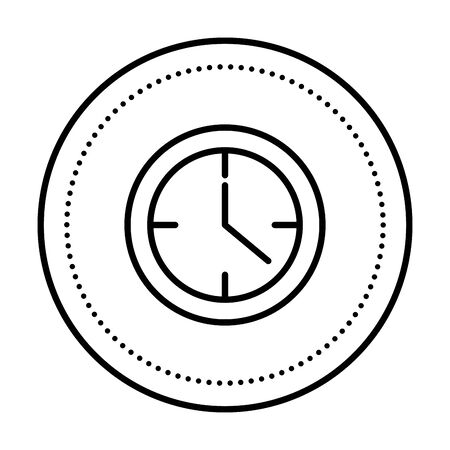 time clock watch isolated icon vector illustration design Banque d'images - 128757818