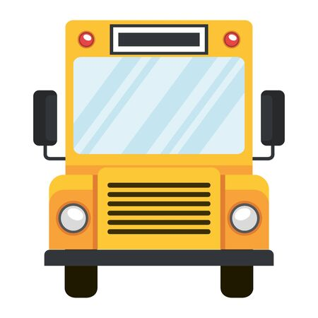 school bus transport isolated icon vector illustration design Ilustração