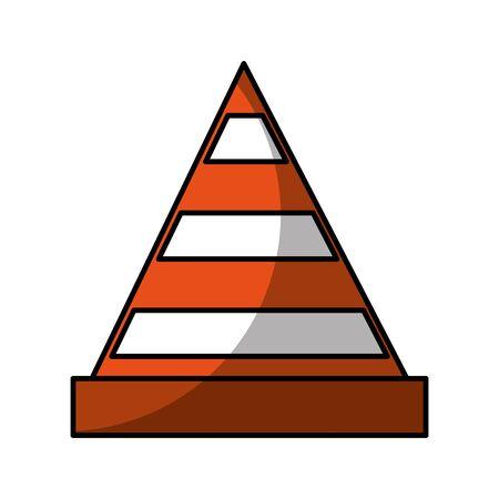construction cone isolated icon vector illustration design Stockfoto - 128780320