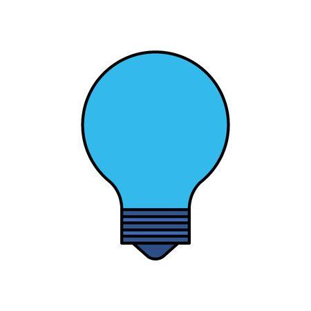 bulb light idea think icon vector illustration design