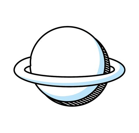 saturn planet isolated icon vector illustration design 版權商用圖片 - 128780087