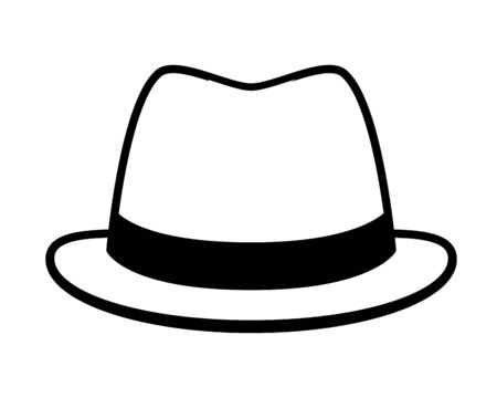 hat accessory icon on white background vector illustration design Standard-Bild - 128780151