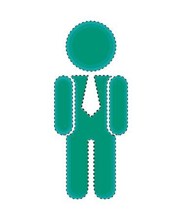 businessman silhouette isolated icon vector illustration design Standard-Bild - 128780157