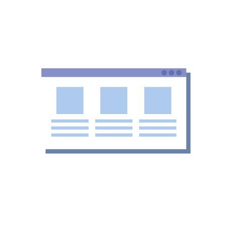 web page template isolated icon vector illustration design Standard-Bild - 128781364