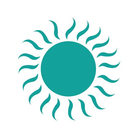 summer sun isolated icon vector illustration design Stockfoto - 128781887