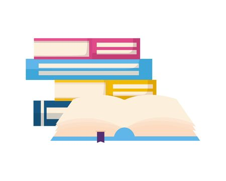 open book isolated icon vector illustration design Çizim