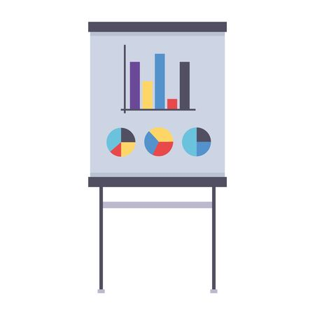 board report office supply on white background vector illustration Illusztráció