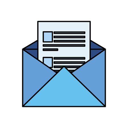 envelope mail post isolated icon vector illustration design Ilustrace