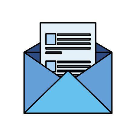 Sobre correo postal icono aislado diseño ilustración vectorial Ilustración de vector
