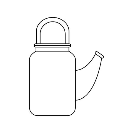traditional chinese teapot isolated icon vector illustration design