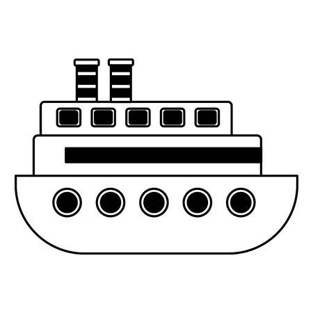 boat kids toy on white background vector illustration Illusztráció
