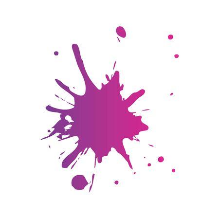 Spritzer Farbe isoliert Symbol Vektor Illustration Design Vektorgrafik