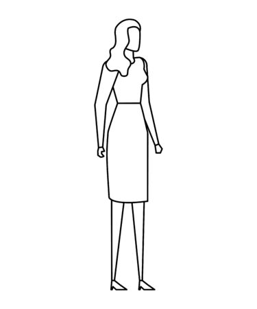 elegant young businesswoman avatar characters vector illustration design Ilustrace