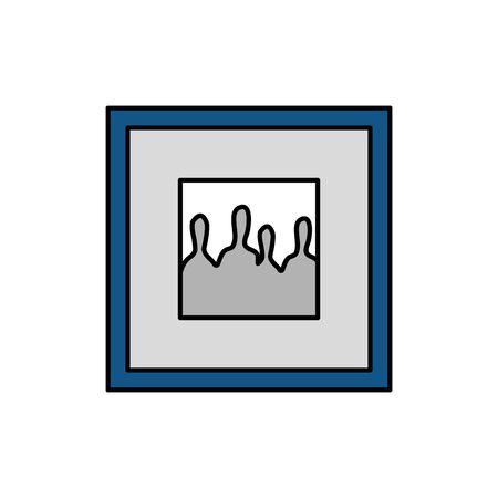 square picture decoration isolated icon vector illustration design Illustration