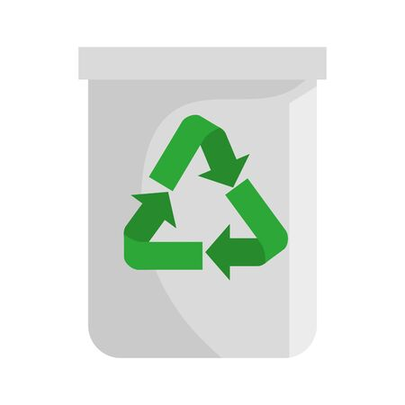 recycle bin waste isolated icon vector illustration design