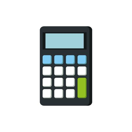 calculator math digital device icon vector illustration design Ilustracja