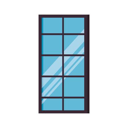 window with cityscape view scene vector illustration design Reklamní fotografie - 128831150
