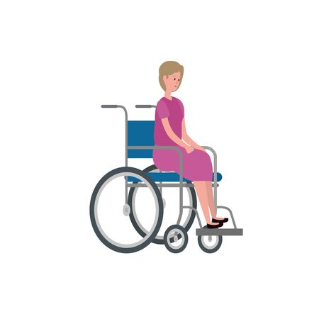 cute grandmother in wheelchair character vector illustration design