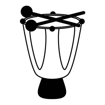 drum music instrument on white background vector illustration