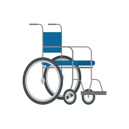 wheelchair medical equipment isolated icon vector illustration design Illustration