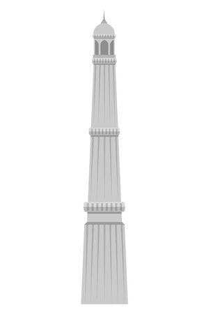 jama masjid famous building icon vector illustration design 일러스트