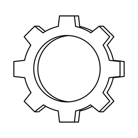 gear machine settings isolated icon vector illustration design
