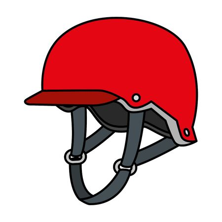 helmet skaster equipment isolated icon vector illustration design
