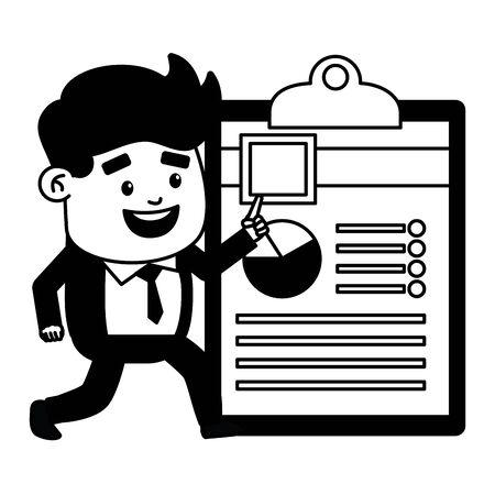 businessman online payment clipboard report vector illustration