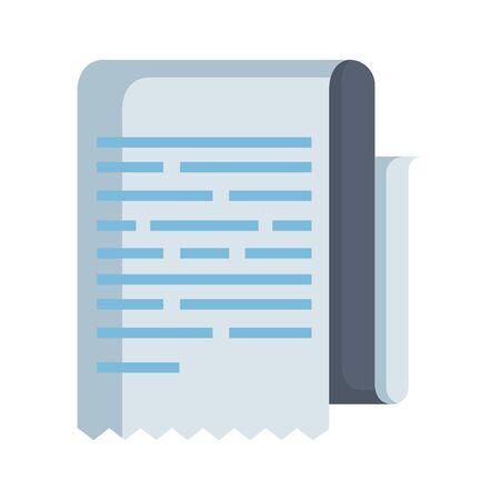 paper document isolated icon vector illustration design Illusztráció