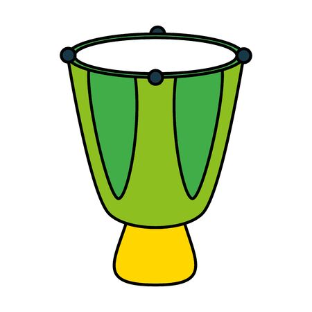 drum music instrument on white background vector illustration 스톡 콘텐츠 - 128918313