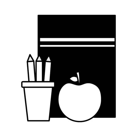 book apple pencils teachers day card vector illustration  イラスト・ベクター素材