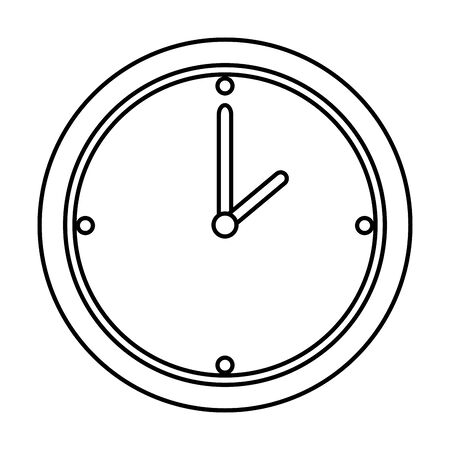 time clock isolated icon vector illustration design Banque d'images - 128953347