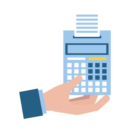 hand calculator accounting tax payment vector illustration Ilustracja