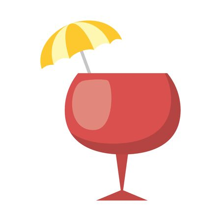 cocktail drink liquor umbrella icon vector illustration