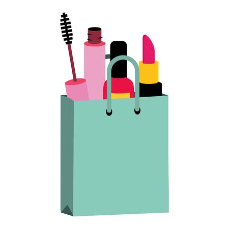 makeup female things pop art elements vector illustration Ilustração